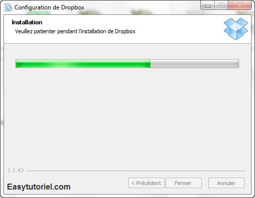 Installation Dropbox