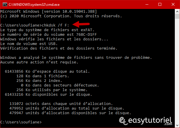 Reparer Cle Usb Memoire Illisible Ne Marche Pas Windows 10 10 Chkdsk F F