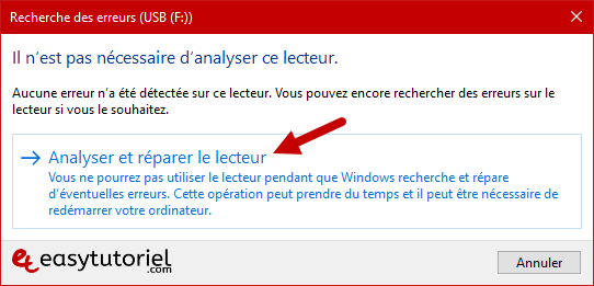 Reparer Cle Usb Memoire Illisible Ne Marche Pas Windows 10 14 Analyser Reparer Lecteur