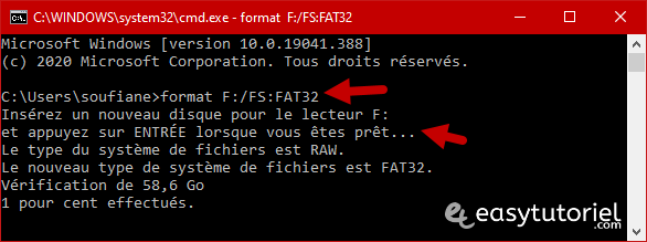 Reparer Cle Usb Memoire Illisible Ne Marche Pas Windows 10 16 Format Fat32