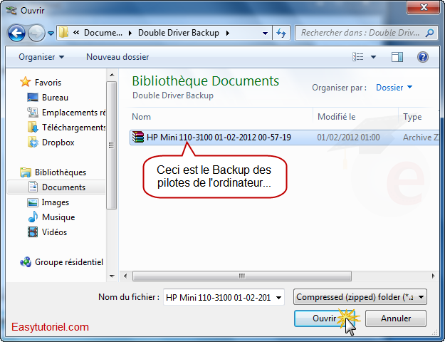 dois-je sauvegarder les pilotes avant d'installer Windows 7