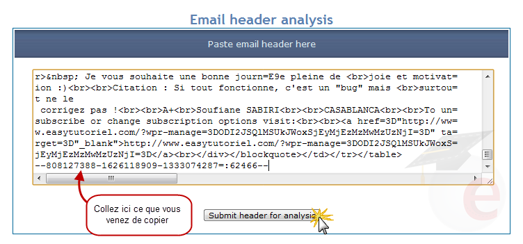 comment localiser email
