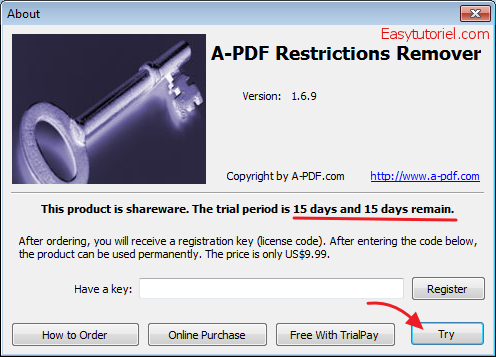 A-pdf restrictions remover activation code