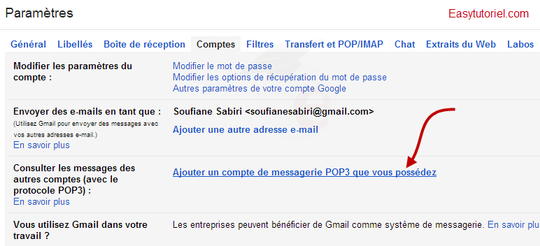 mail gmail pop3 2