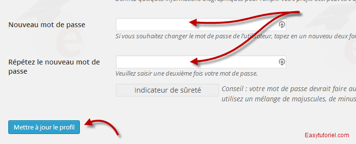 reinitialiser mot de passe wordpress 7