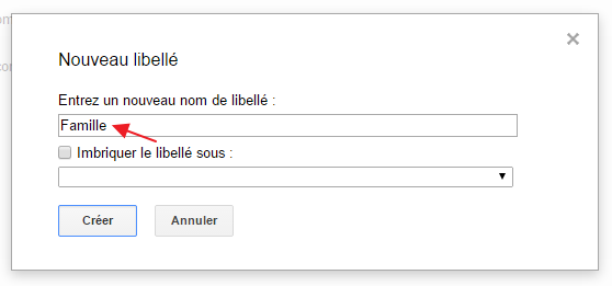 gmail creer libelle