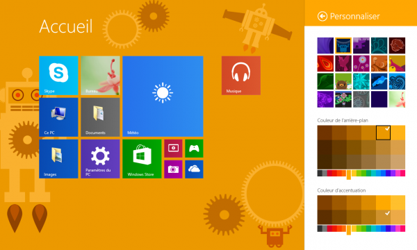 personnaliser couleur metro windows 8