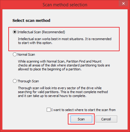Scan method