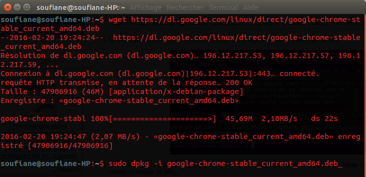 terminal google chrome ubuntu