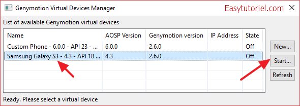13 eclipse genymotion virtual devices manager
