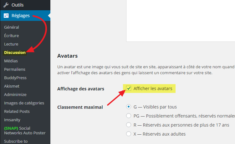 2 desactiver avatars definitivement