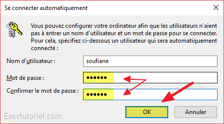 3 se connecter automatiquement windows