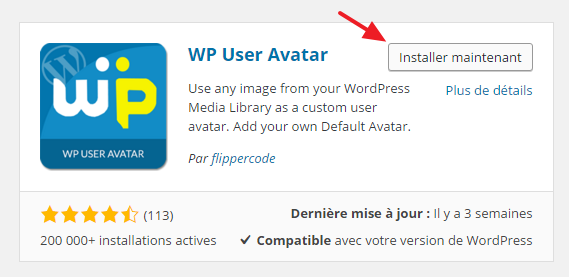 7 wp user avatar installation