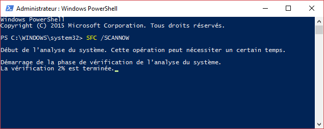 powershell sfc scannow
