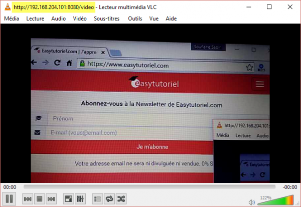 12 ip webcam vlc flux reseau