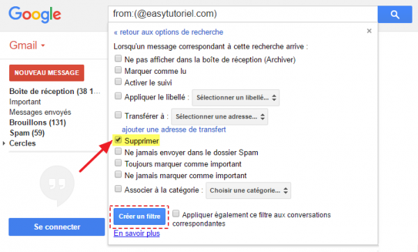 3 gmail supprimer spam email