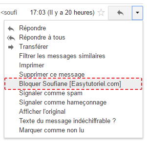 bloquer email gmail