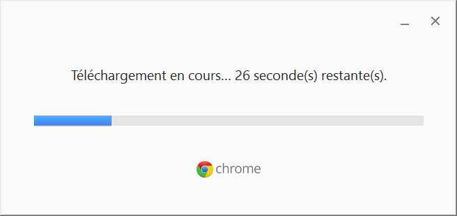 telechargement google chrome en cours
