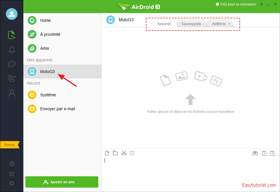 airdroid 3 motog3 interface