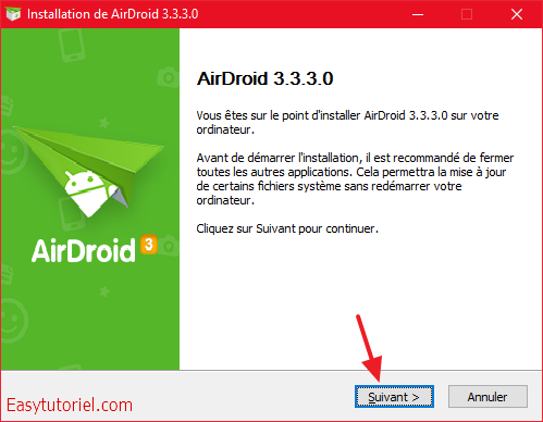 airdroid installation windows