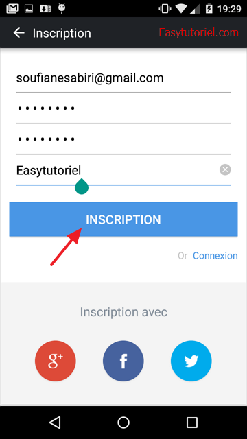 inscription airdroid