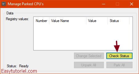 manage parked cpu s
