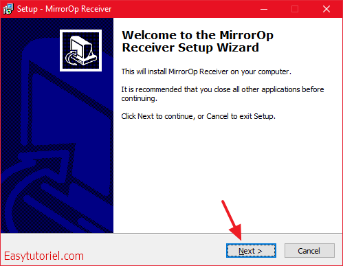 mirrorop receiver installation windows