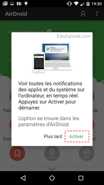 notifications airdroid