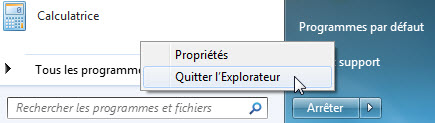 quitter explorateur windows