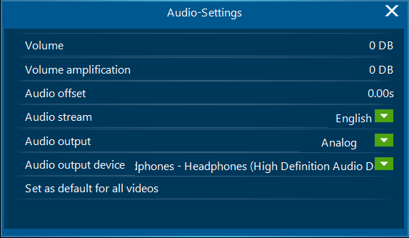 Leawo Audio Settings