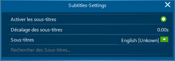 Subtitles Settings