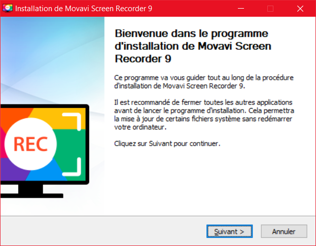 Movavi Screen Recorder Installation 1