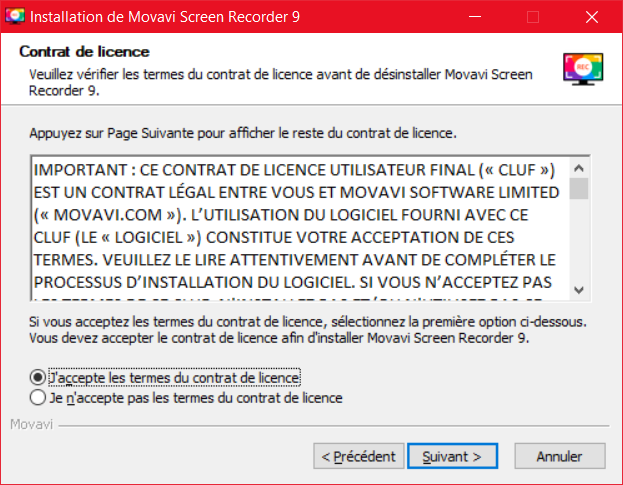 Movavi Screen Recorder Installation 2