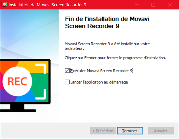 Movavi Screen Recorder Installation 4