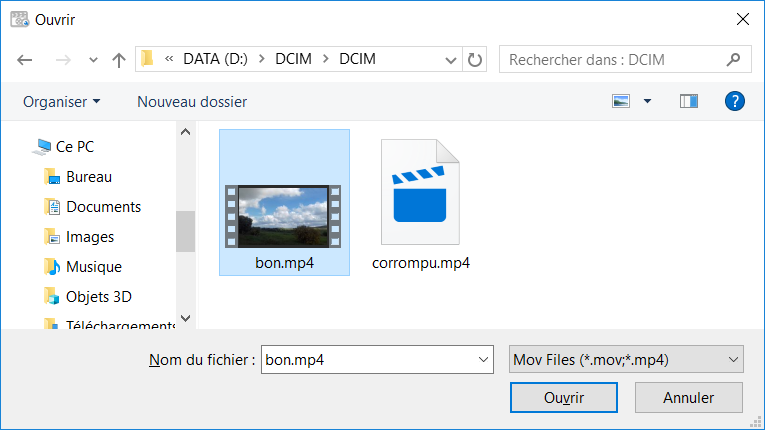 Yodot Mov Repair Bon Corrompu Explorateur Windows
