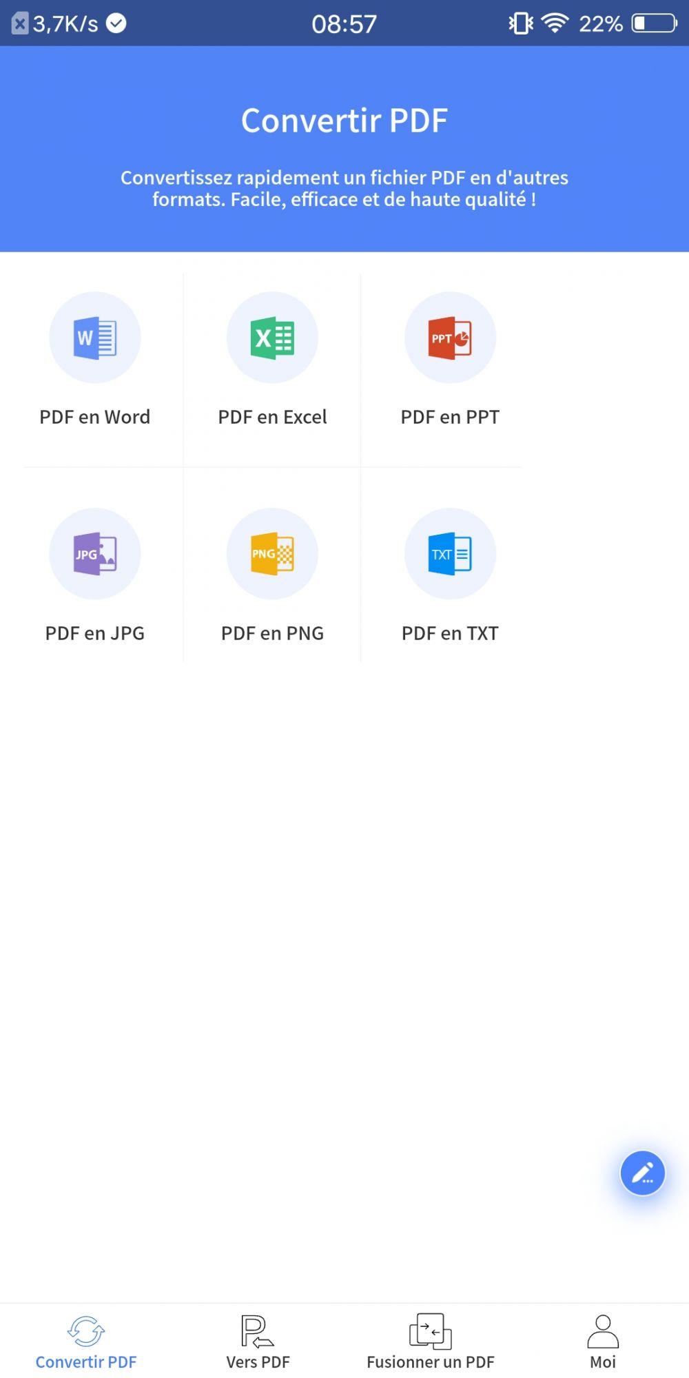 CONVERTISSEUR PDF Mobile  ScreenshotANDROID