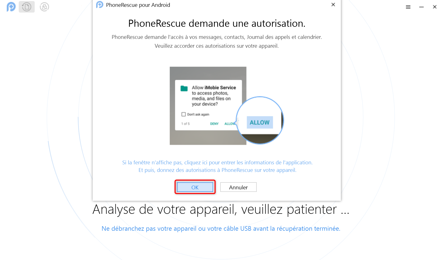 Phonerescue Demande Autorisation